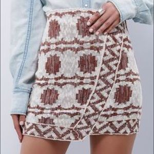 "Free People ""Wrapped In You"" Knit Blanket Skirt"